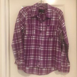 NWT Purple Plaid Flannel Shirt